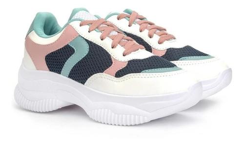 Tenis Feminino Buffalo Chunky Dad Sneaker Leve Confortavel