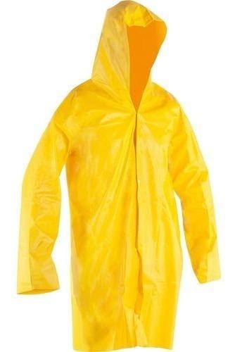 Capa De Chuva Reforçada Epi Obras Amarela