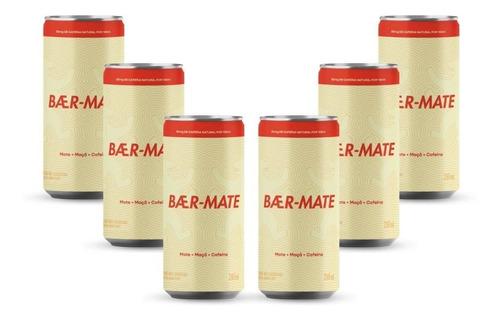 Chá Gaseificado Baer-mate Lata 269ml Com 6 Unidades