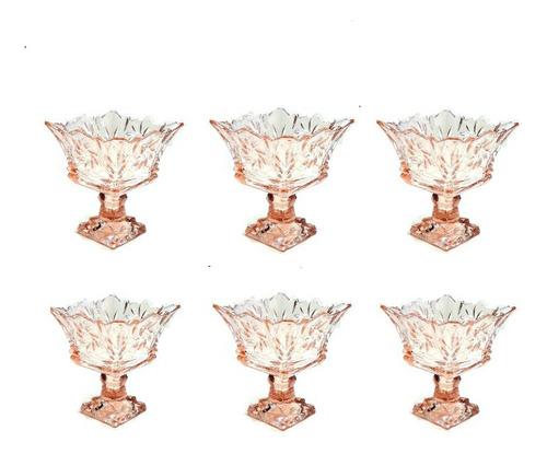 Taça  Sobremesa Sorvete12 Pecas Persian Glass Frete Gratis