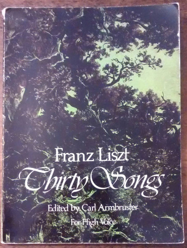Liszt 30 Canciones Partitura Dover