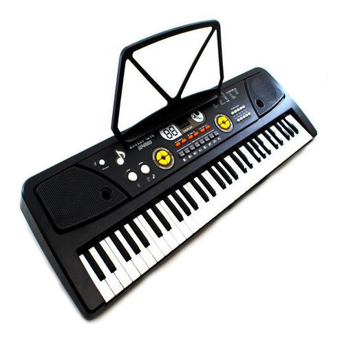 Teclado Infantil Microfone 61 Teclas Profissional Musical