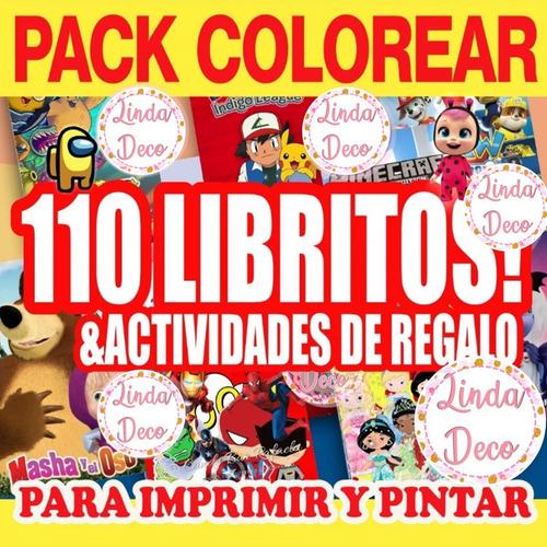 Mega Pack Kit Imprimible Libritos Libros Colorear Pintar