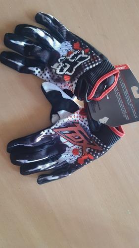Guantes Fox 360 Gloves Motocross Negro Y Blanco