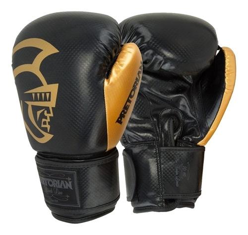 Luva Muay Thai Boxe Pretorian - Black Line Ouro