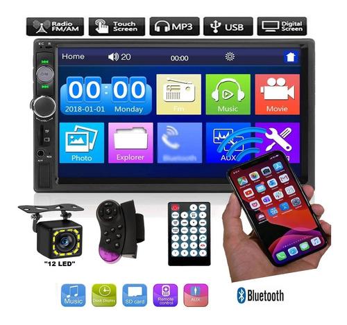 Auto Estereo Pantalla Doble 2 Din Bluetooth Touch Sd Mp3 Usb Auxiliar Facil Instalacion Excelente Calidad