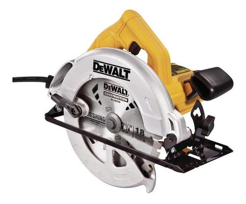 Serra Circular Elétrica Dewalt Dwe560 184mm 1400w Amarela 220v