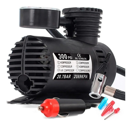 Mini Compressor Ar Automotivo Multiuso 12v 300psi Multiuso