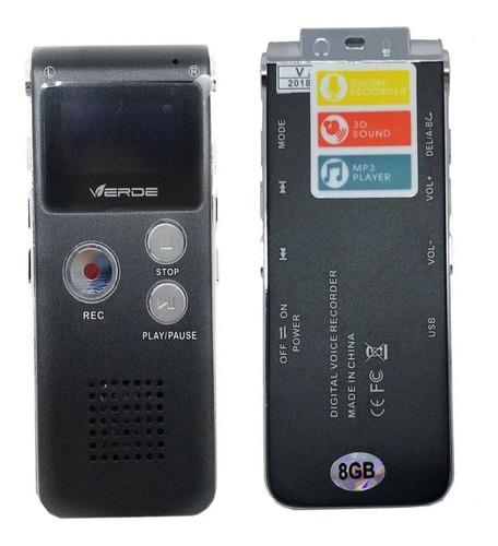 Gravador De Voz Digital Verde 8gb Similar Sony Zoom