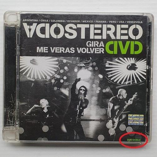 Soda Stereo ~ Gira Me Verás Volver ~ Combo 2 Cd´s + 2 Dvd´s