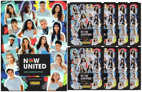 Kit 1 Álbum Now United + 40 Figurinhas E 10 Cards (10 Env)