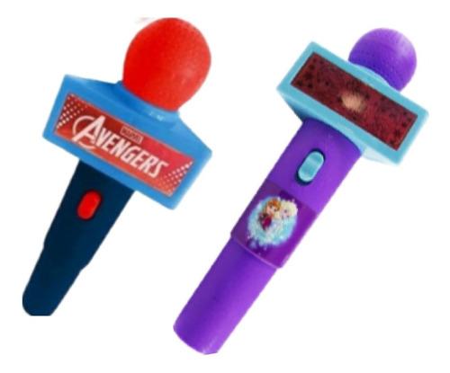 Microfone Infantil Com Som E Luz Muito Divertido