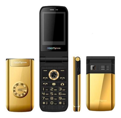 Celular Tipo Folder - Naomiphone Gold - Dual SIM, Mp3, Cámara, Red 2g - Color Dorado - Ecart