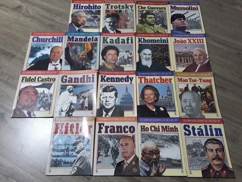 Coleção Livros Grandes Líderes Séc Xx 1990 Frete Grátis C/18
