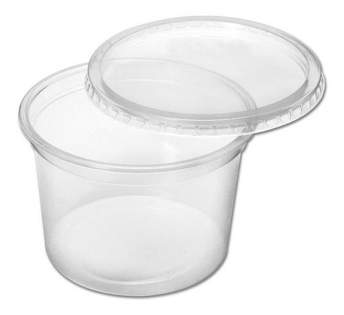 100 Pote Plástico Descartavel 200ml Com Tampa, Bolo No Pote
