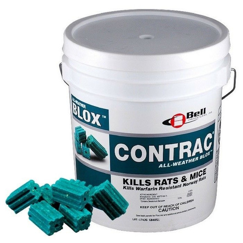 Contrac Blox, Rodenticida, Cebo Para Raton, Control De Ratas