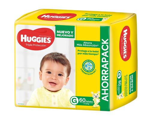 Pañales Huggies Triple Protección Ahorrapack  G 60u