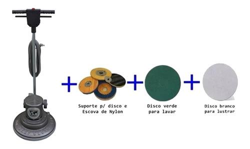 Enceradeira Industrial Dc 300 + Discos 300mm - Deep Clean