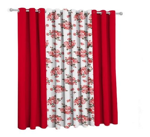 Cortina Floral Sala/quarto 300x250 Promoção
