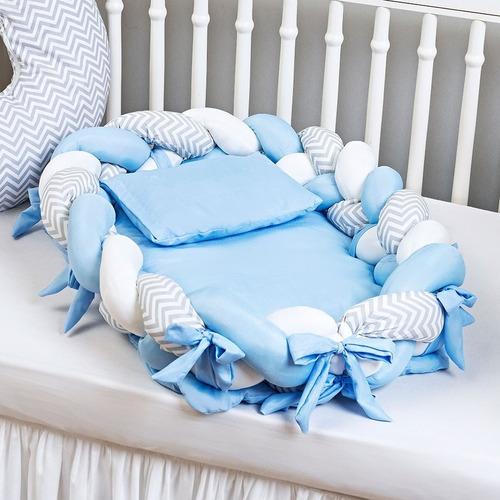 Ninho De Trança Redutor De Berço Bebê Multi Uso 4 Peças