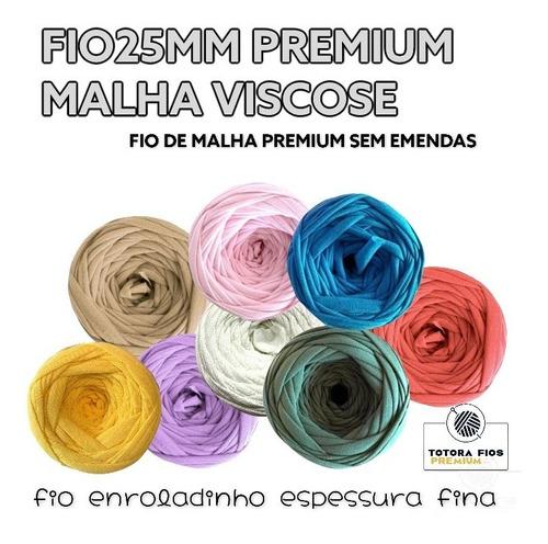Fio De Malha Premium Viscose - Cores - Totora Fio25mm Fino