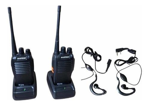 Kit 2 Rádios Comunicador Baofeng Walk Talk Bf-777s Microfone