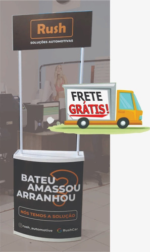 Balcão Pdv Promocional, Degustação, Eventos Com Porta E Rodi