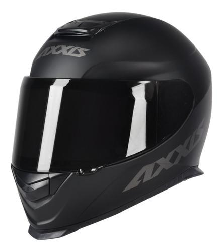 Capacete Axxis Feminino Masculino Preto Fosco Eagle Solid