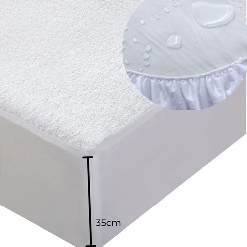 Protector Colchon Impermeable/antifluido Queen 1.60x1.90