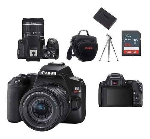 Canon Eos Sl3 18-55+bolsa+tripé+64gb+bateria Lp-e17 Lacrado