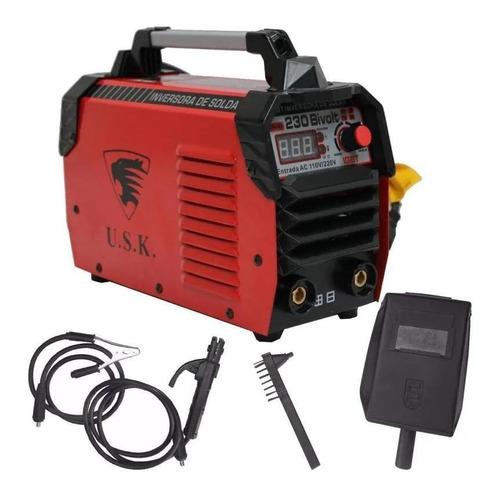 Máquina De Solda Inversora Ak-230 Bivolt Display Digital Usk