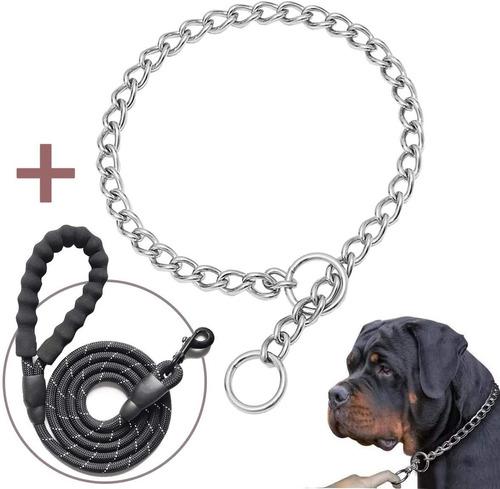 Collar De Acero Inoxidable Para Perro, Talla Xl.