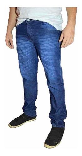 Calça Jeans Masculina Skinny Slim Com Lycra