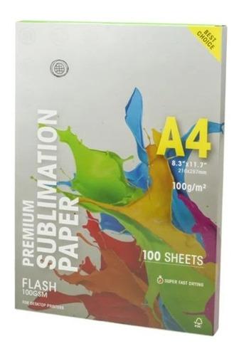 Papel Globinho Para Sublimação 100 Folhas A4 Mundi Premium