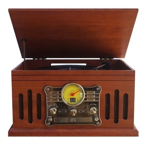 Toca Discos Raveo Stadio Cd Usb Radio Fita Cassete Bluetooth