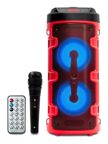 Alto-falante Grasep D-s14 Portátil Com Bluetooth Vermelho