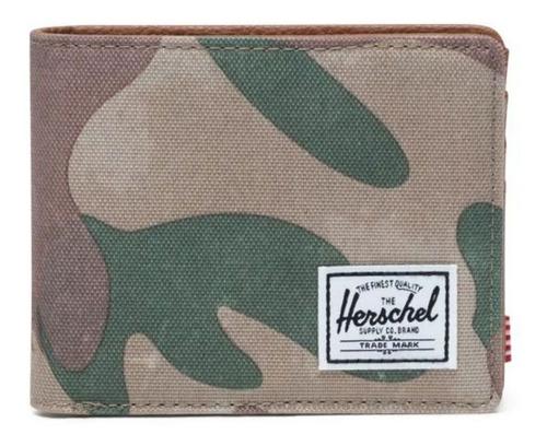 Billetera Herschel Hank Brushstroke Camo Poliéster 600d