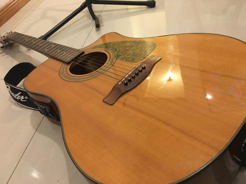 Impecable  Guitarra Fender Electroacustica Cd 140 Sce
