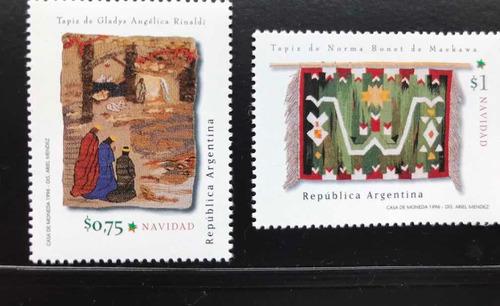 Estampillas Argentinas Navidad 1996 - Precio Por Ambas