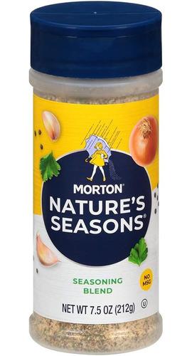 Morton Nature's Seasons 25% Menos Sodio 212g Importada