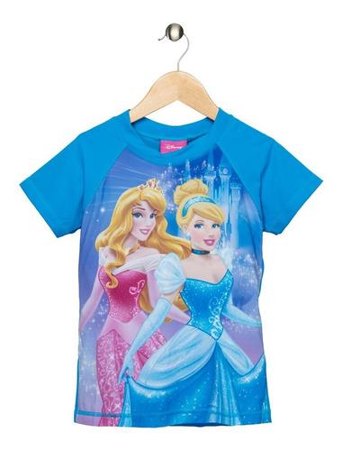 Camiseta Praia Princesas Kids Tip Top - Turquesa 8 10 51 0