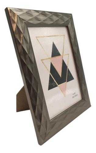 Porta Retrato 10x15 Sala Quarto Dourado Rose Chumbo Prata