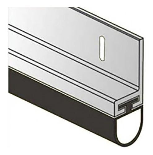 Zocalo Burlete Porton Levadizo Garage 2,40mt Aluminio Reforz