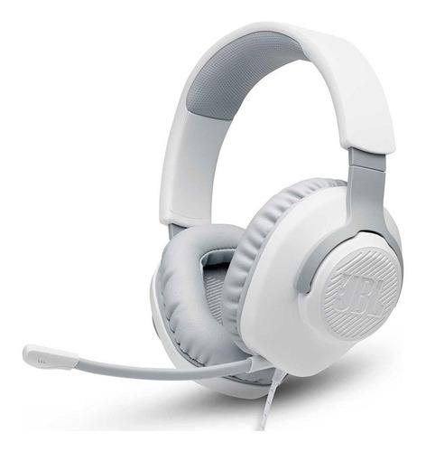 Headset Gamer Jbl Quantum 100 Para Consoles E Pc - Branco