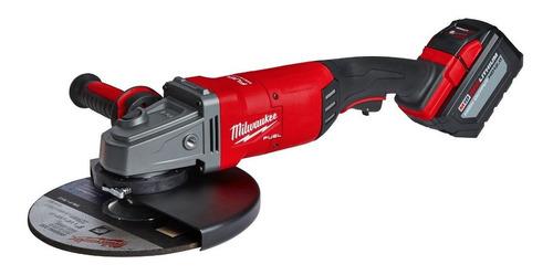 Amoladora Angular Inalámbrica Milwaukee M18 Fuel 2785-259hda Roja Y Negra