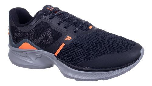 Tenis Masculino Racer Move Fila Preto/laranja/grafite 915306