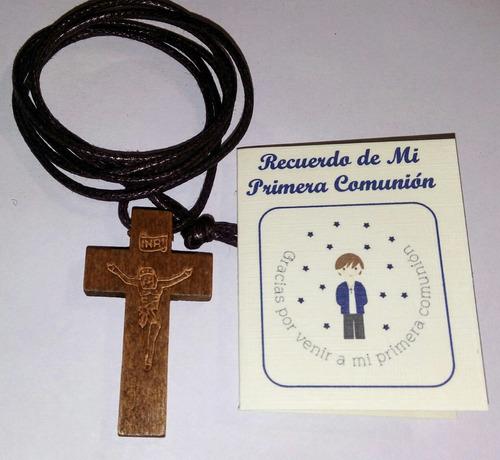 Recuerdos Primera Comunión Cruz De Madera X 12