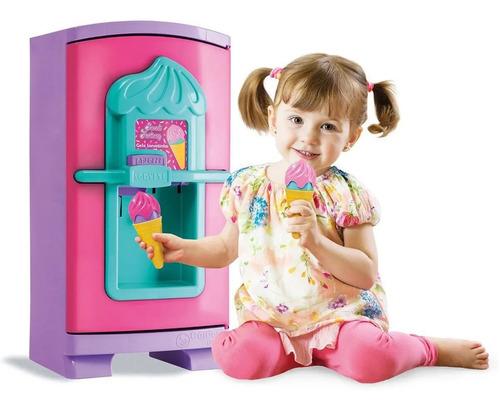 Geladeira Infantil Cozinha 50cm Gela Sorvetinho Faz Sorvete