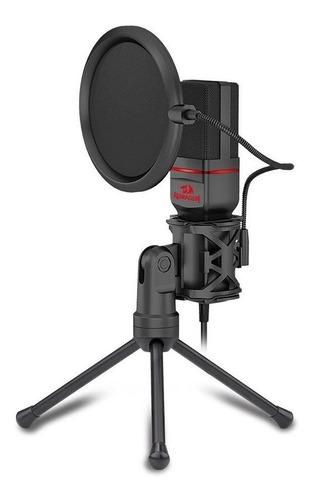 Microfone Redragon Gm100 Condensador  Omnidirecional Preto