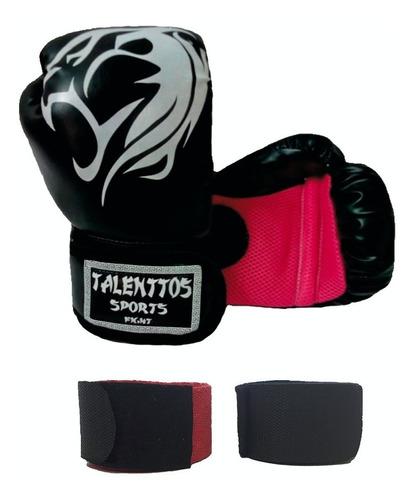 Luva Boxe Muay+bandagens Talenttos Sport Fight